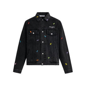 13 DE MARZO Gummy Bears Cover Denim Jacket Phantom | MADA IN CHINA