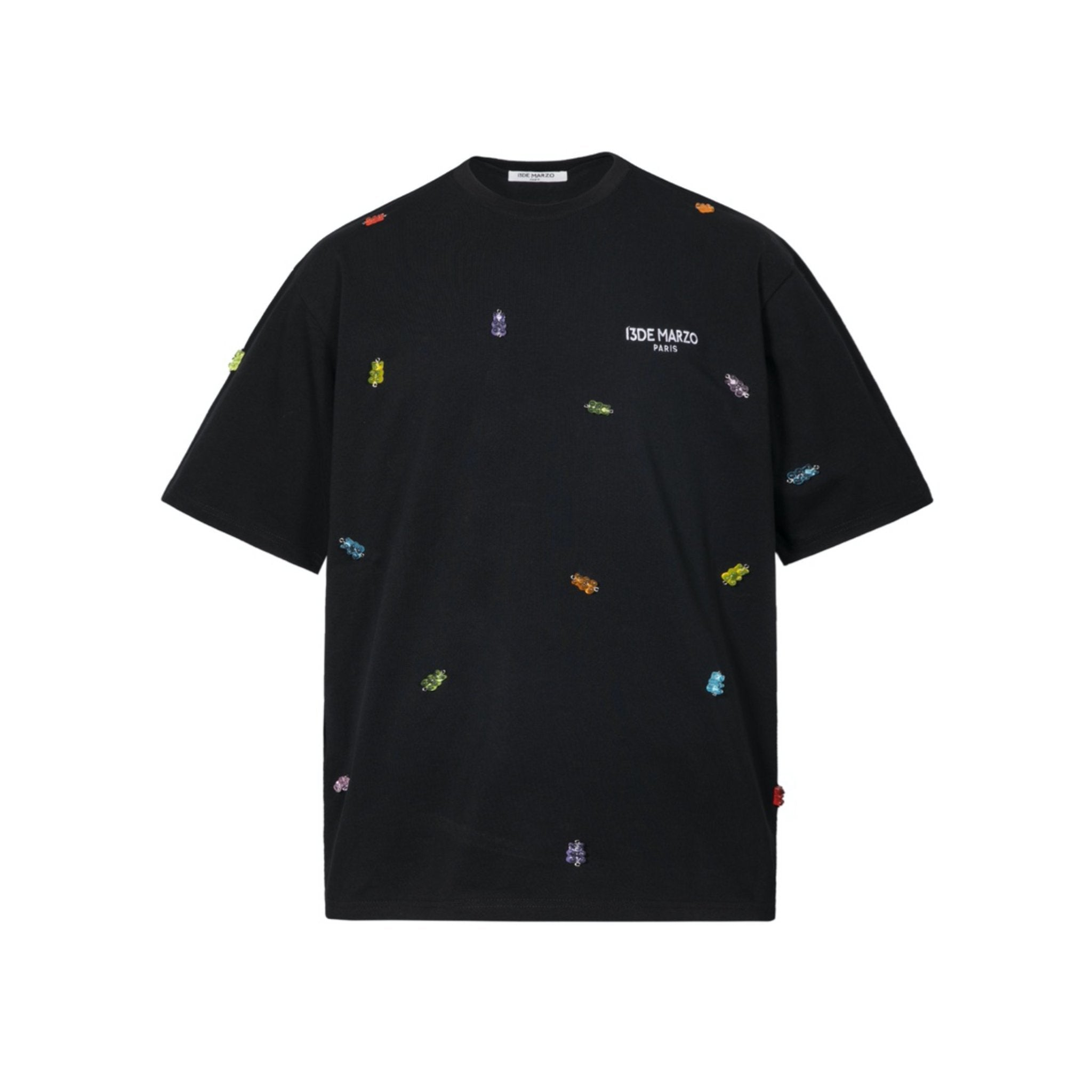 13 DE MARZO Gummy Bears Cover Tee Black | MADA IN CHINA