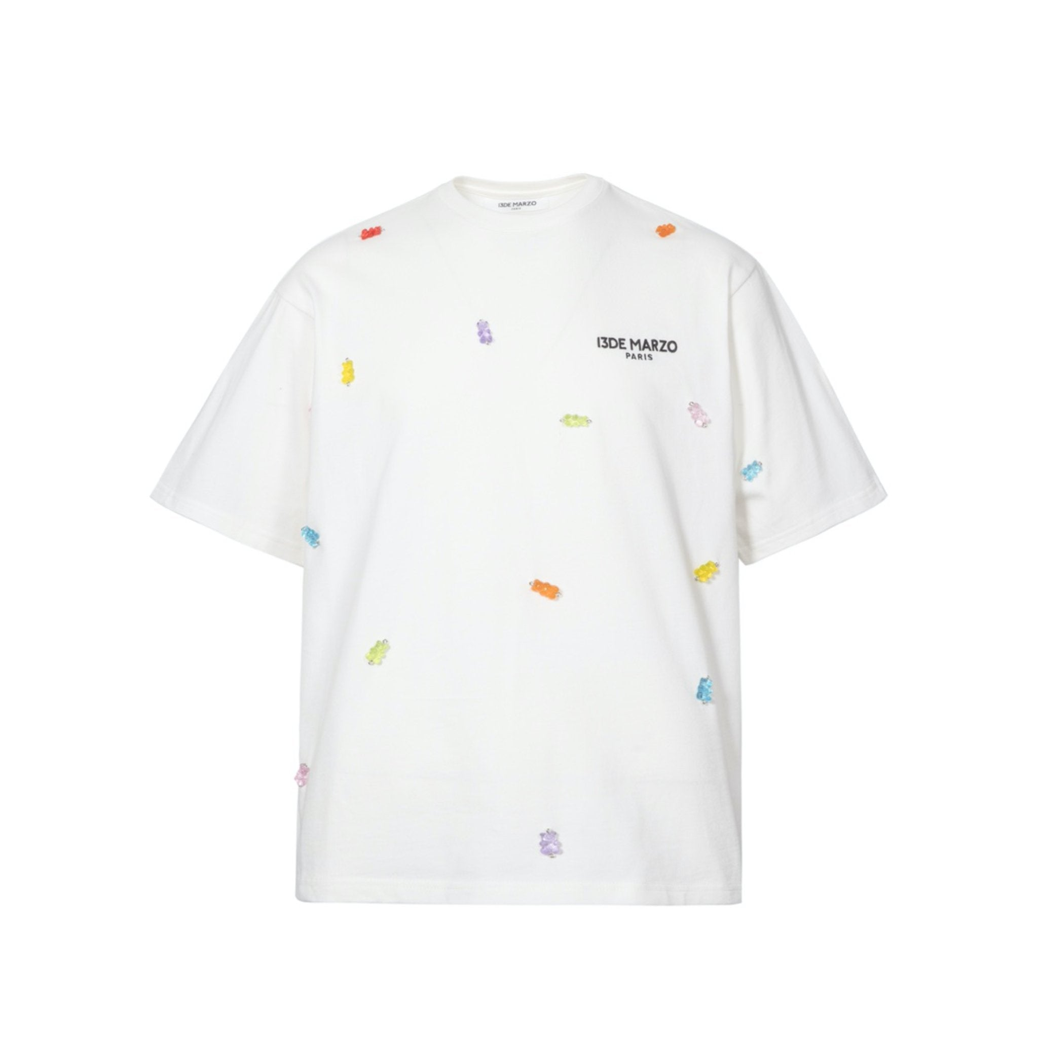 13 DE MARZO Gummy Bears Cover Tee White | MADA IN CHINA