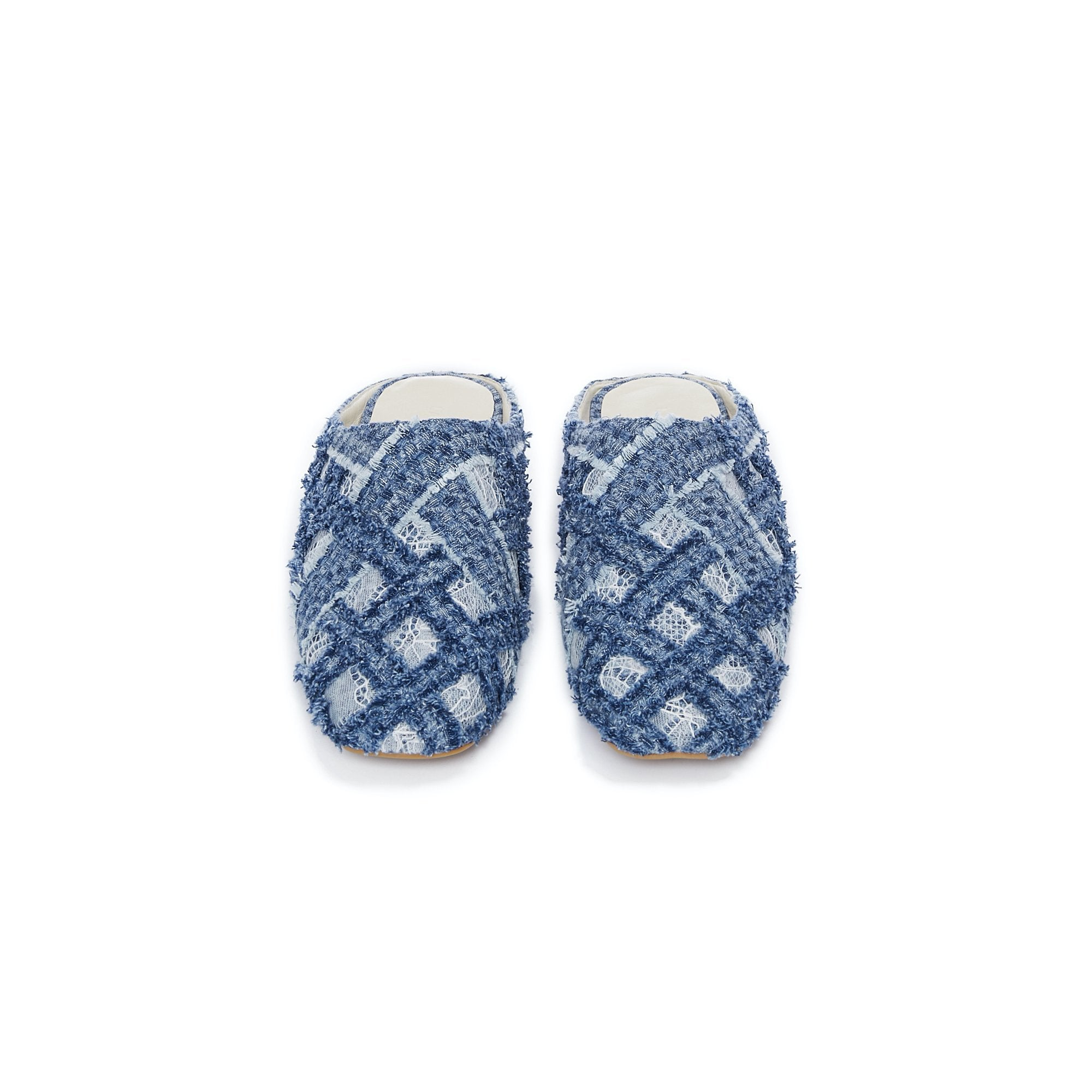 Laurence & Chico Handwoven Denim Lace Sandals | MADA IN CHINA