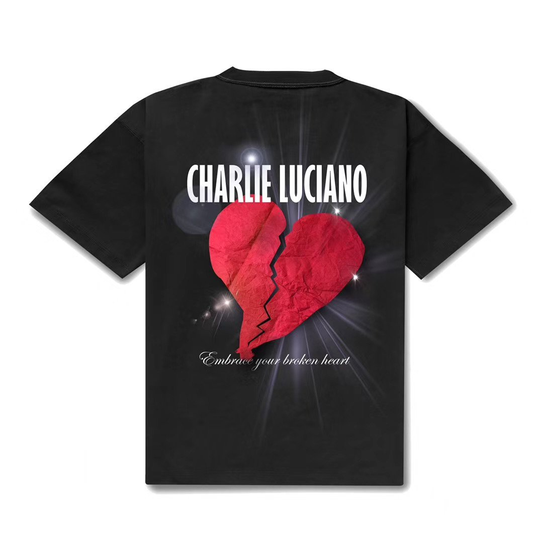 CHARLIE LUCIANO Heartbreak Print T-Shirt | MADA IN CHINA