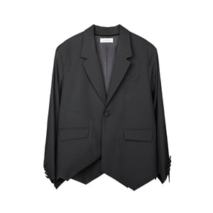 GALLIANO LANDOR Irregular Serrated Hem Suit Jacket | MADA IN CHINA