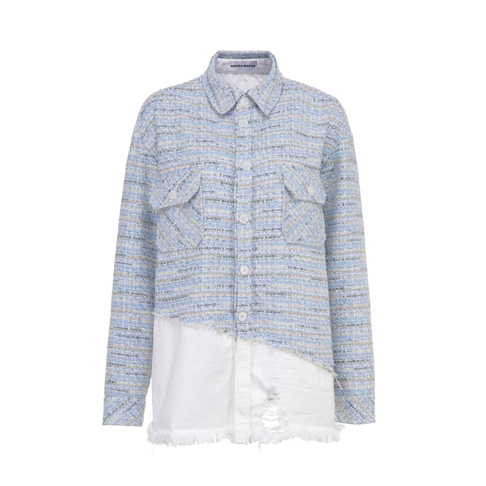 ANDREA MARTIN Joint Denim Shirt | MADA IN CHINA