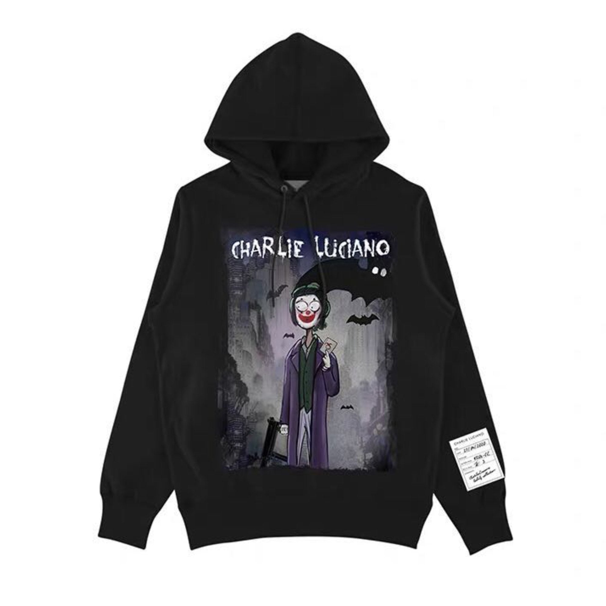 CHARLIE LUCIANO 'Joker' Print Hoodie | MADA IN CHINA