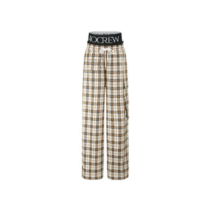 40 CREW Khaki Plaid Pants | MADA IN CHINA