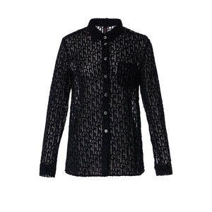 Laurence & Chico Laulau Chichi Black Silk Shirt | MADA IN CHINA