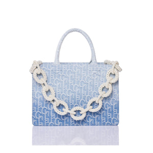 Laurence & Chico LauLau ChiChi Ombre Jacquard Medium Tote | MADA IN CHINA