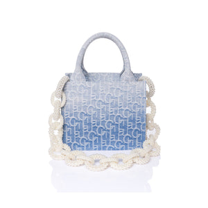 Laurence & Chico LauLau ChiChi Ombre Jacquard Small Tote | MADA IN CHINA