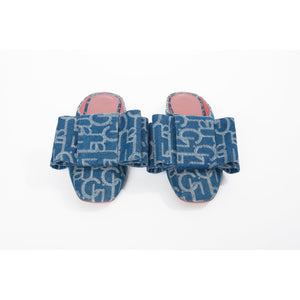 Laurence & Chico Laulu Chichi Bowknot Denim Slipper | MADA IN CHINA