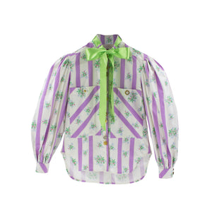 MOTOGUO Lavendar BedSheet Shirt | MADA IN CHINA