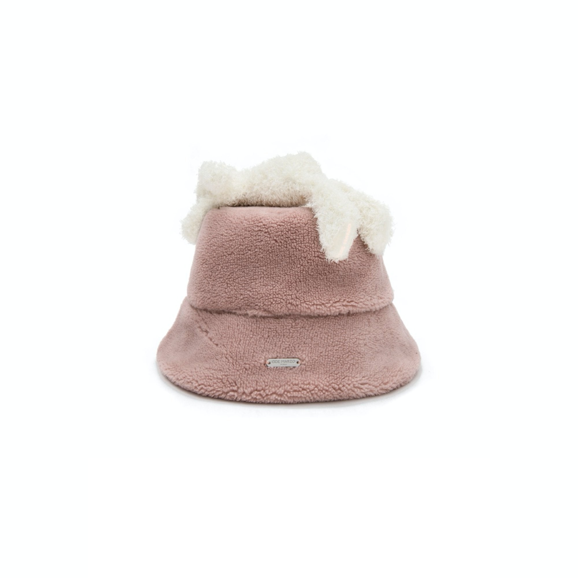 13 DE MARZO Lazy Teddy Bear Both-side Bucket Hat Coral Cloud | MADA IN CHINA