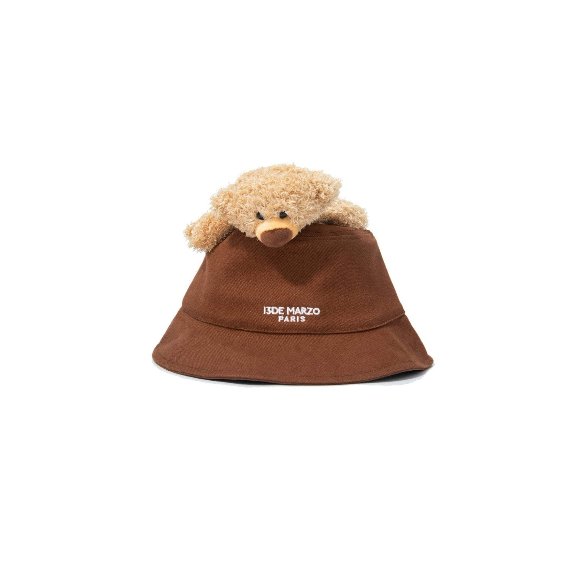 13 DE MARZO Lazy Teddy Bear Bucket Hat Rustic Brown | MADA IN CHINA
