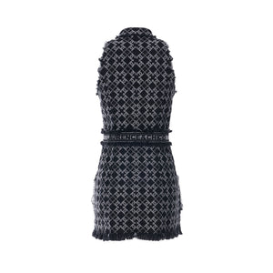 Laurence & Chico LC Logo Denim Jacquard Vest Dress | MADA IN CHINA