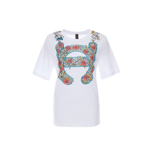 Laurence & Chico LC Logo Garden Print Tee | MADA IN CHINA