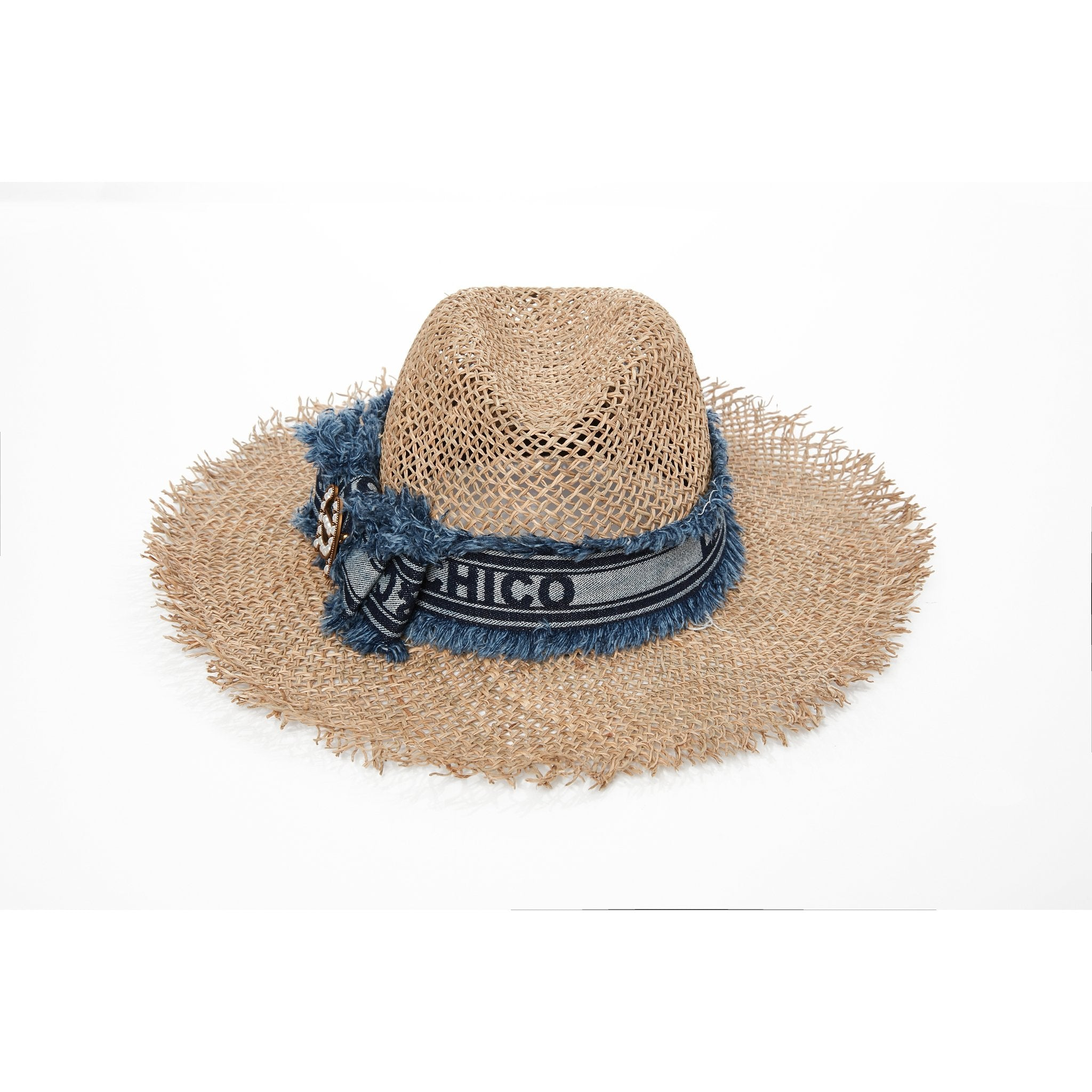 Laurence & Chico LC Logo Raffia Hat | MADA IN CHINA