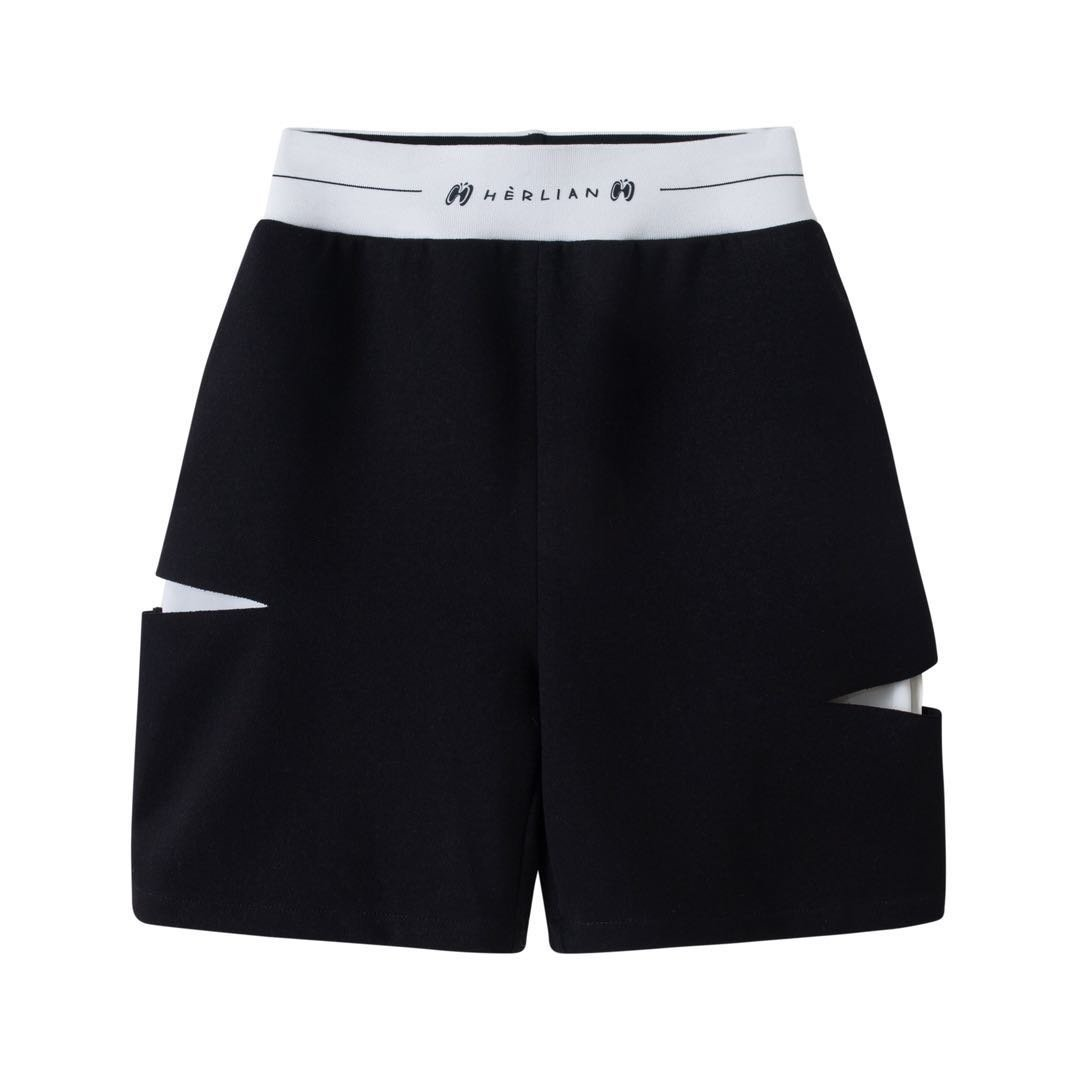 HERLIAN Le Papillon Destroyed Shorts | MADA IN CHINA