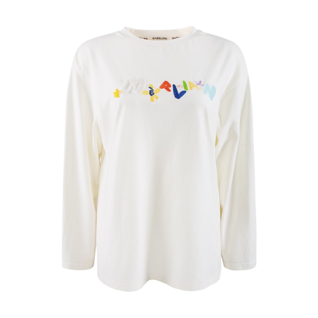 HERLIAN 'Le Papillon' Logo Tee White | MADA IN CHINA