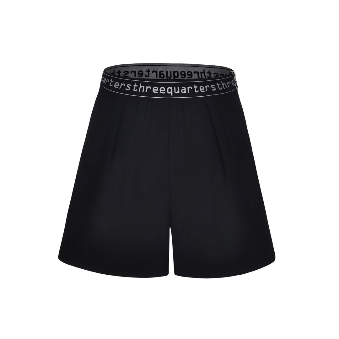 THREE QUARTERS Letter Logo Shorts | MADA IN CHINA