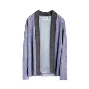 GALLIANO LANDOR Lilac Suede Fabric Kimono Jacket | MADA IN CHINA