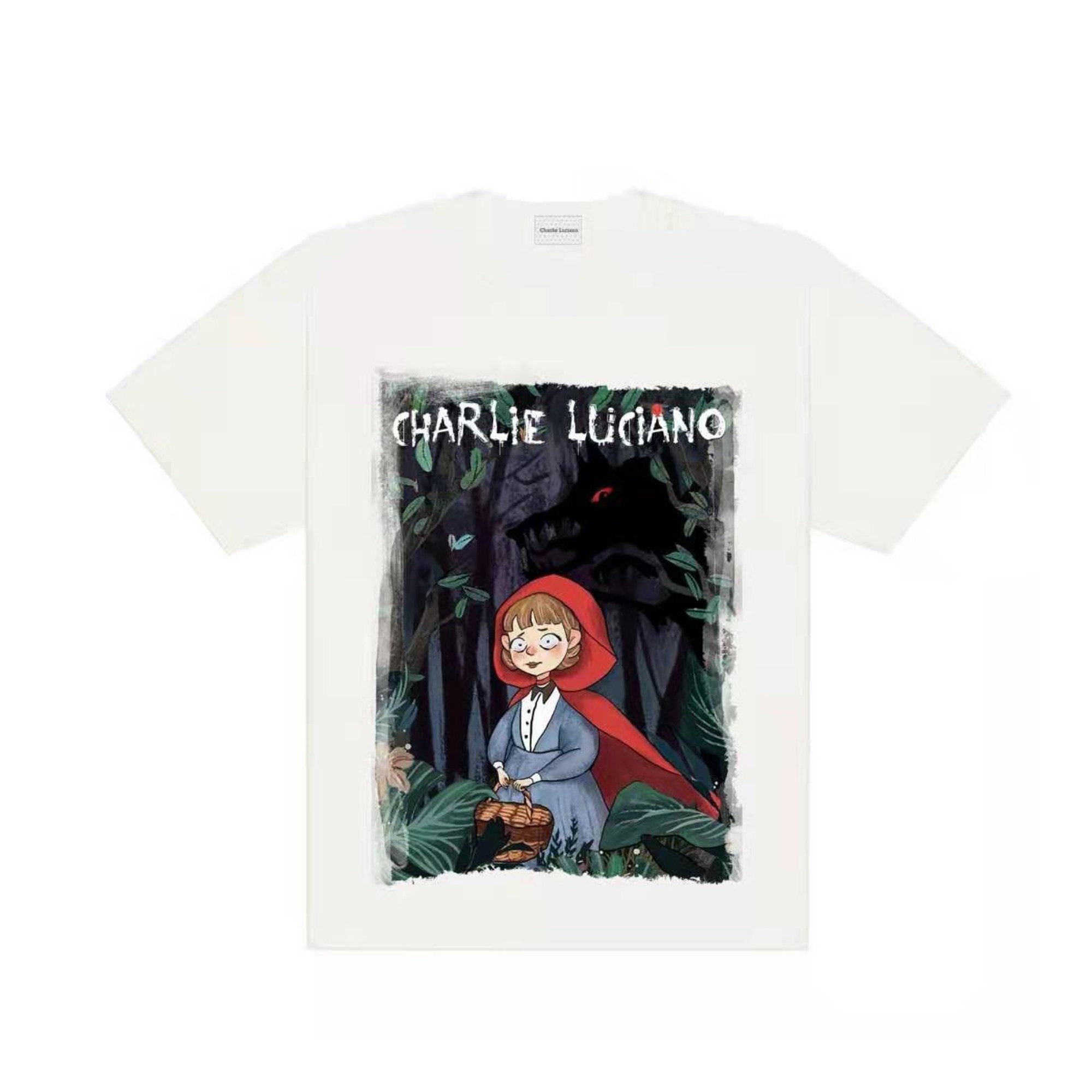 CHARLIE LUCIANO Little Red Riding Hood Print Tee White | MADA IN CHINA