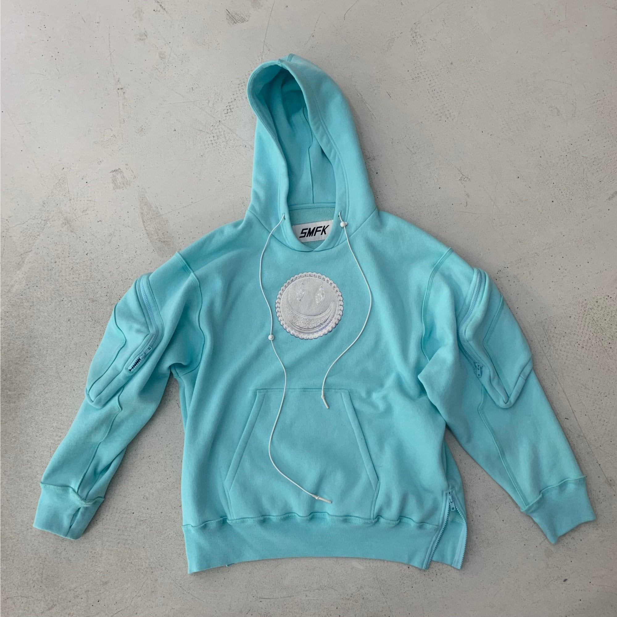 SMFK Lovely Tactical Hoodie Aqua | MADA IN CHINA