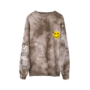 MAYHEM Mayhem Nervis Brown Tie-Dye Puff Print Sweater | MADA IN CHINA