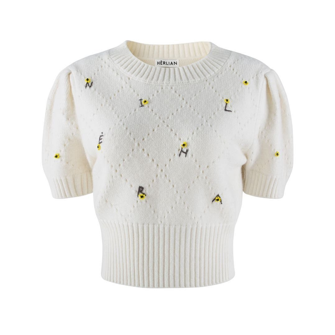 HERLIAN Mini Flower Bubble Sleeve Sweater | MADA IN CHINA