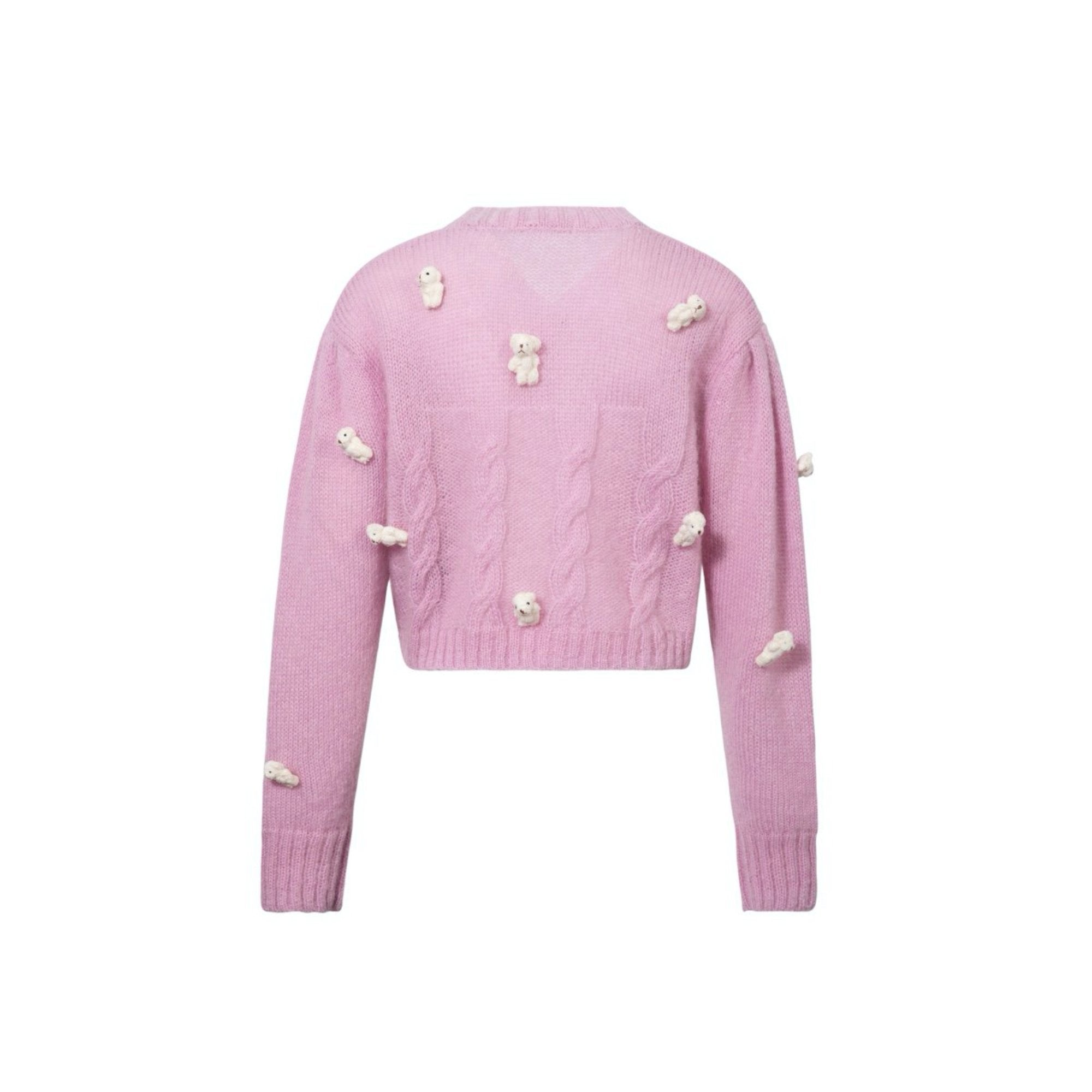 13 DE MARZO Mini Teedy Bear Cover Cardigan Lilac | MADA IN CHINA