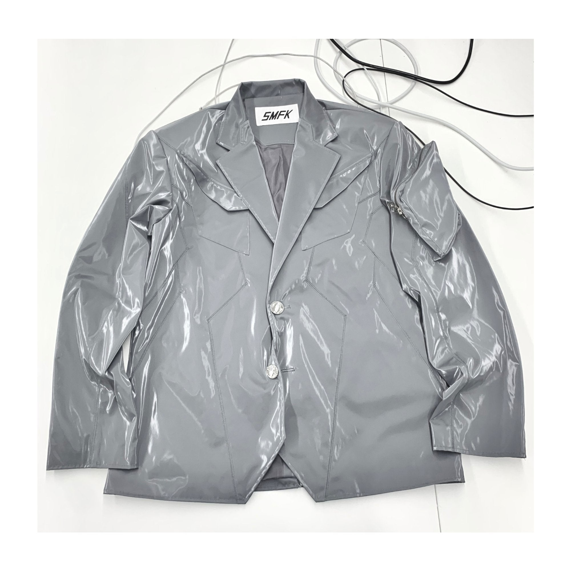 SMFK Mirror Blazer Jacket Dove | MADA IN CHINA