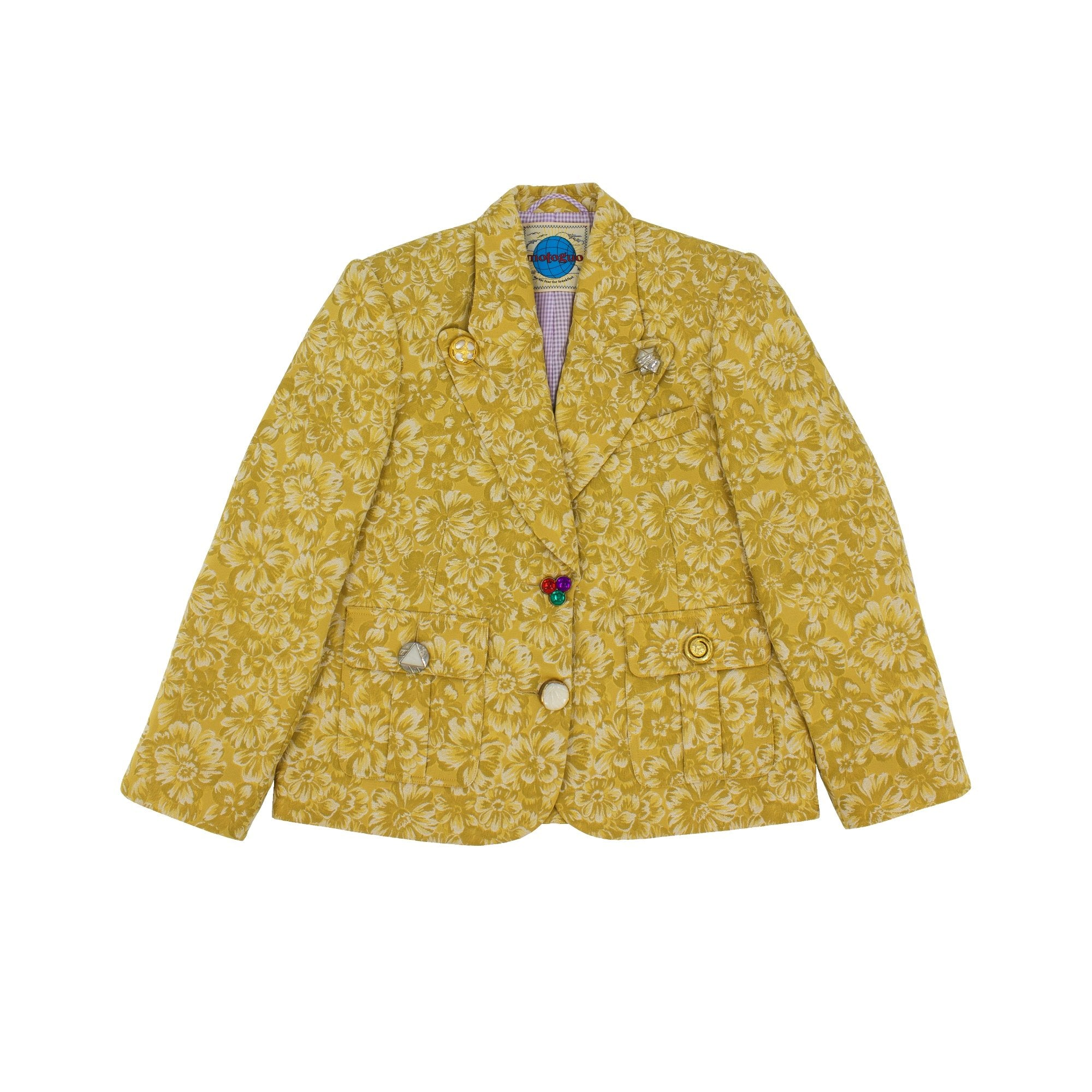 MOTOGUO Mustard Grandma Wedding Dinner Coat | MADA IN CHINA