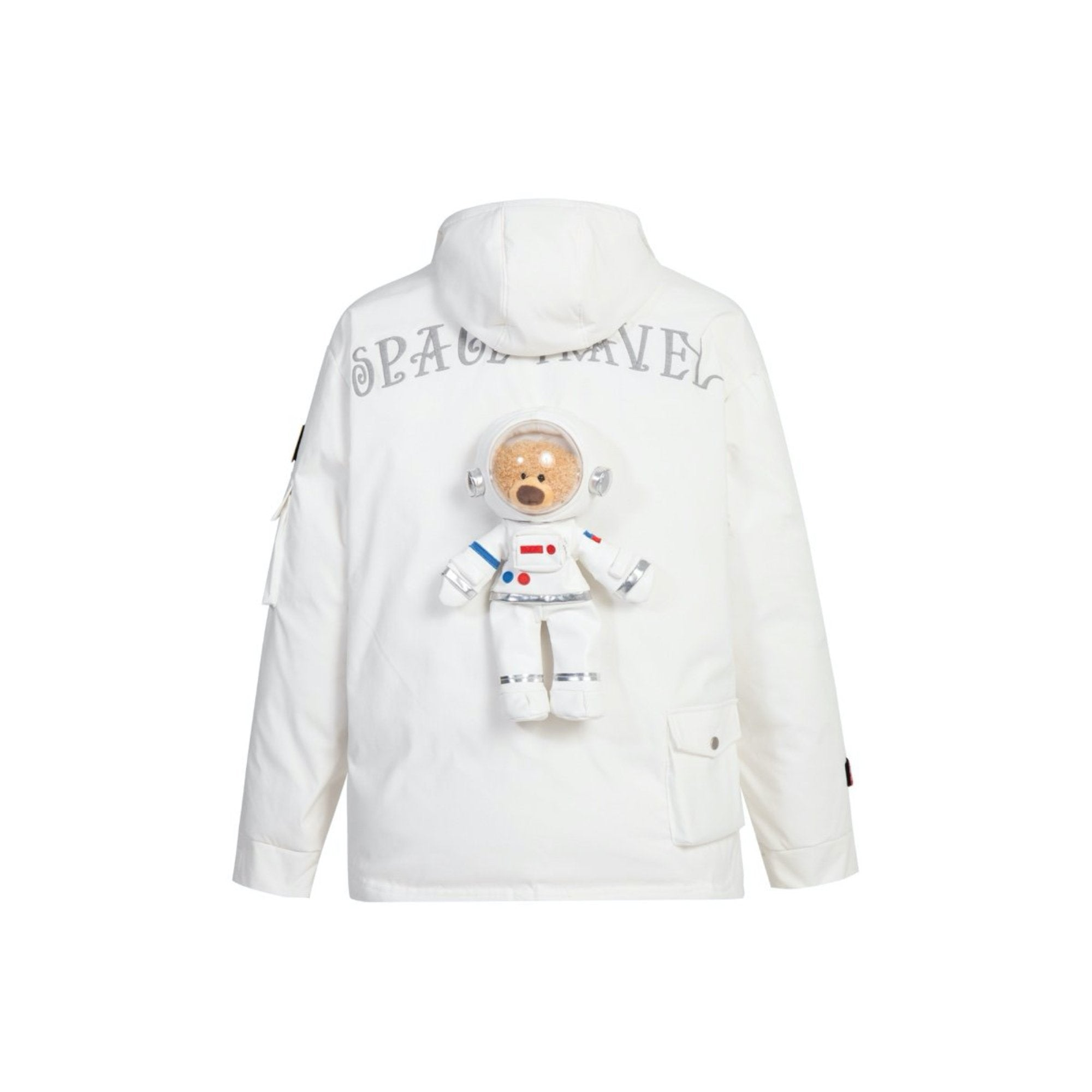 13 DE MARZO NASA Teddy Bear Down Jacket White | MADA IN CHINA