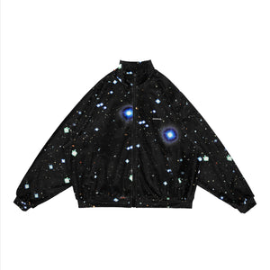 MAYHEM Nervis Black Galaxy Print Velvet Jacket | MADA IN CHINA