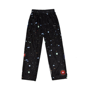 MAYHEM Nervis Black Galaxy Print Velvet Lounge Pants | MADA IN CHINA