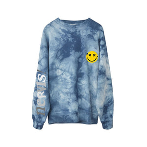 MAYHEM Nervis Blue Tie-Dye Puff Print Sweater | MADA IN CHINA