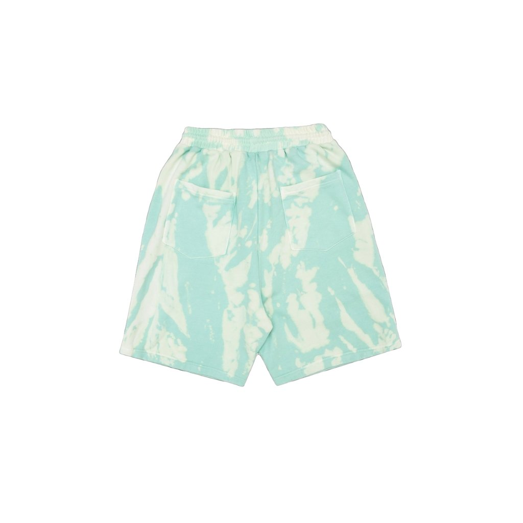 MAYHEM Nervis Green Tie-Dye Puff-Print Short | MADA IN CHINA