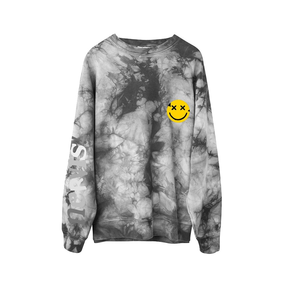MAYHEM Nervis Grey Tie-Dye Puff Print Sweater | MADA IN CHINA