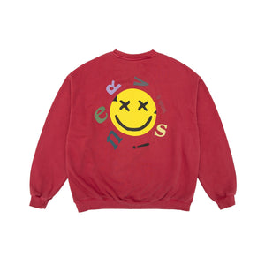 MAYHEM Nervis Red Smile Puff-print Sweater | MADA IN CHINA