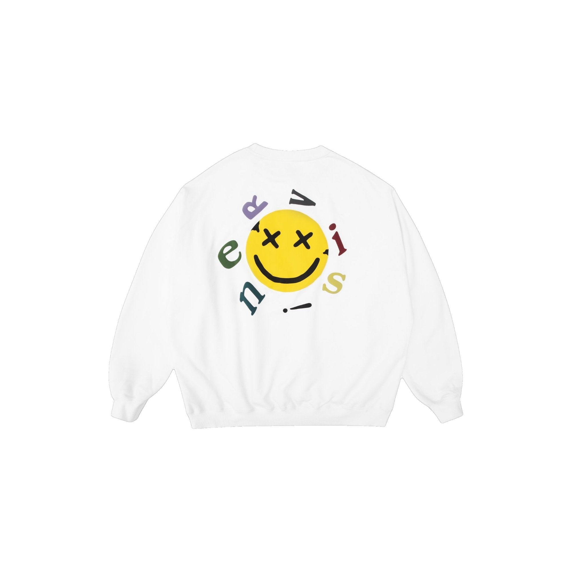 MAYHEM Nervis White Smile Puff-Print Sweater | MADA IN CHINA