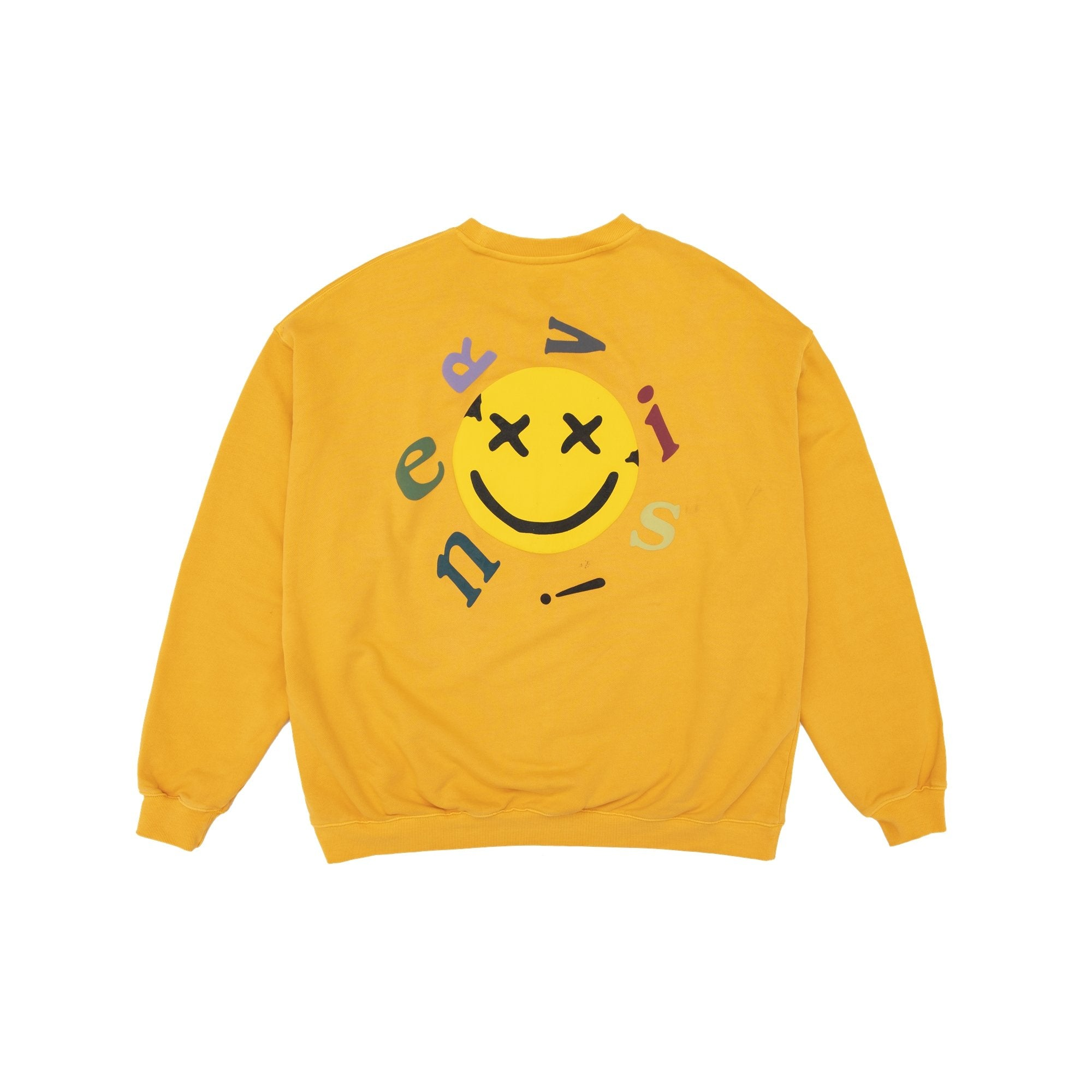 MAYHEM Nervis Yellow Smile Puff-Print Sweater | MADA IN CHINA