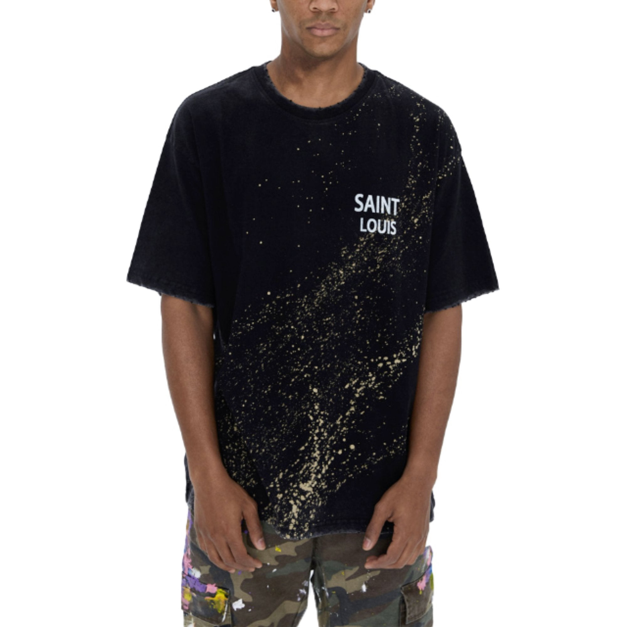 SAINT LOUIS Object Dyed Tee Fading Black | MADA IN CHINA