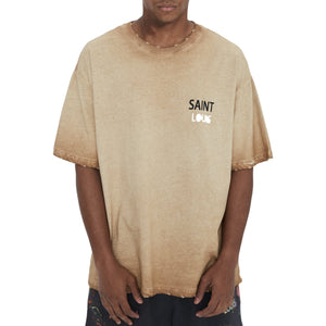 SAINT LOUIS Object Dyed Tee Yellow | MADA IN CHINA