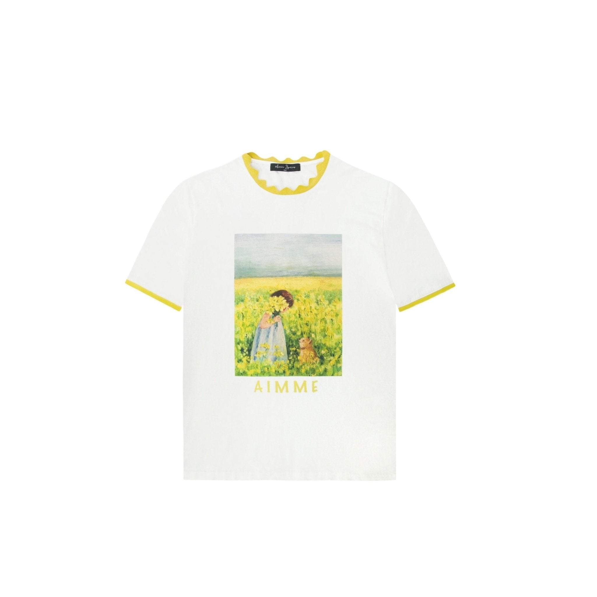 AIMME SPARROW Oil Painting Tee | MADA IN CHINA