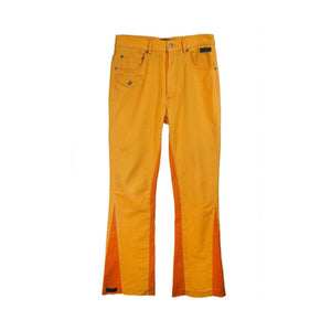 ONOFFON Orange Panelled Jeans | MADA IN CHINA