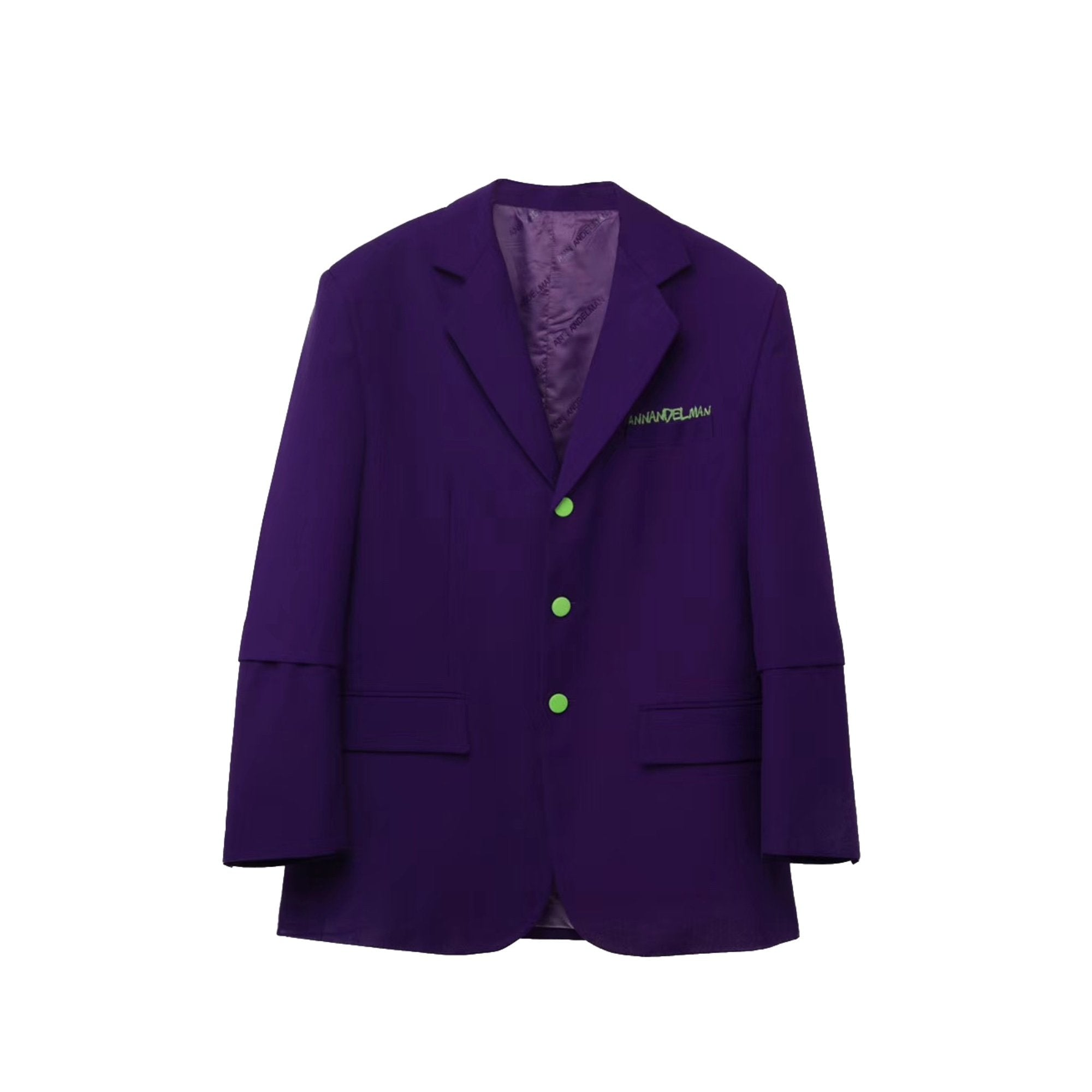 ANN ANDELMAN Oversized Blazer Jacket Purple | MADA IN CHINA