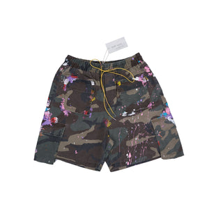 SAINT LOUIS Painted Camo Shorts | MADA IN CHINA