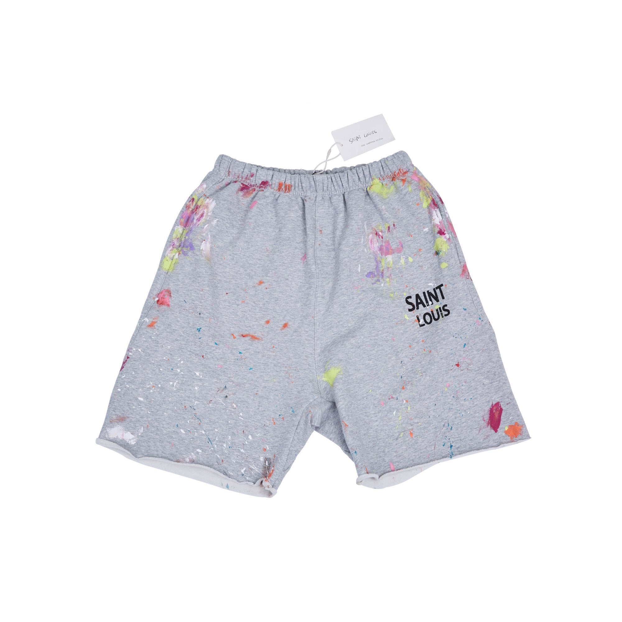 SAINT LOUIS Painted Sweat Shorts Grey | MADA IN CHINA