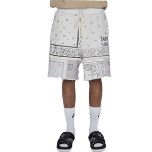 SAINT LOUIS Paisley Shorts White | MADA IN CHINA