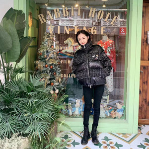ANDREA MARTIN Patched Down Jacket | MADA IN CHINA