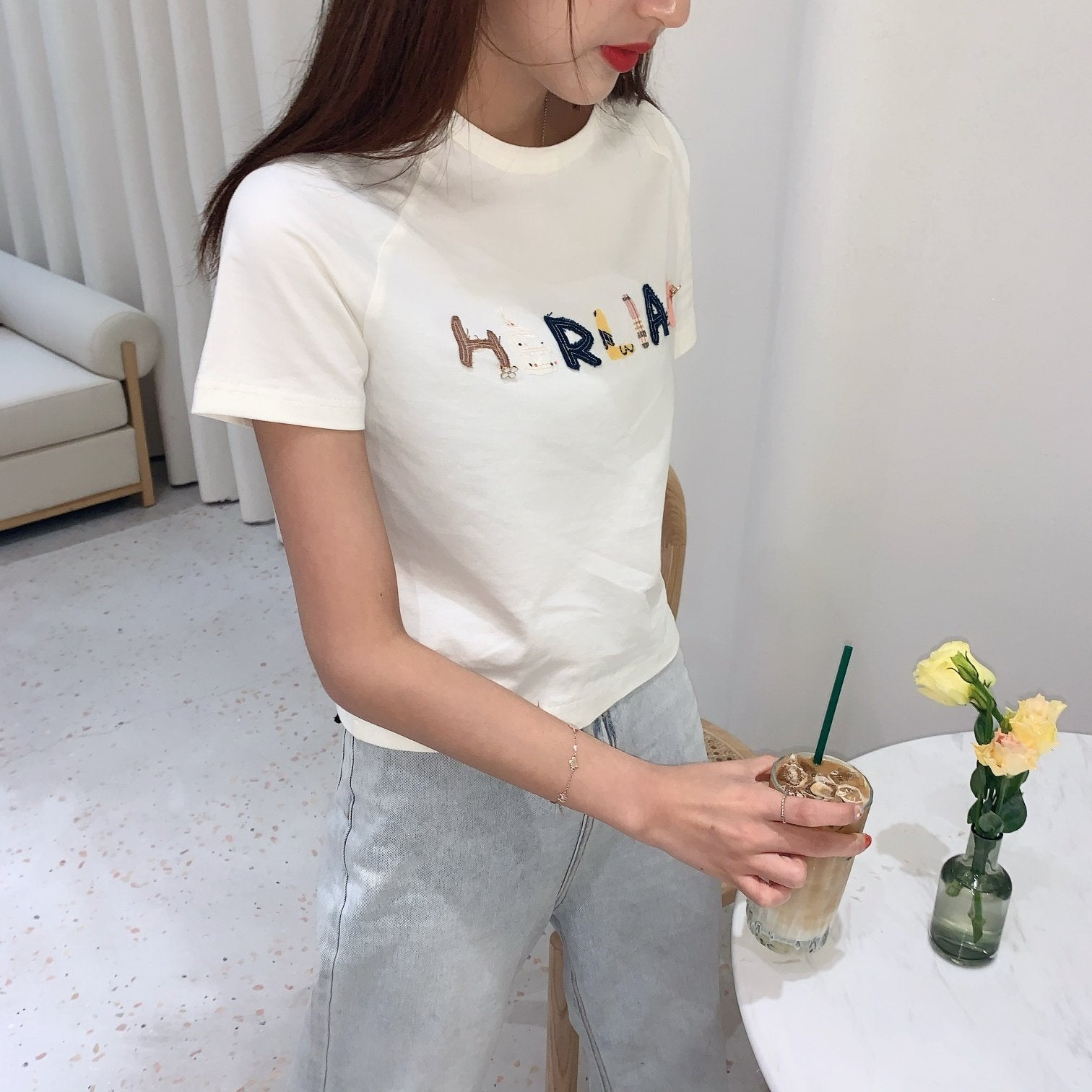 HERLIAN Patched Logo Tee | MADA IN CHINA