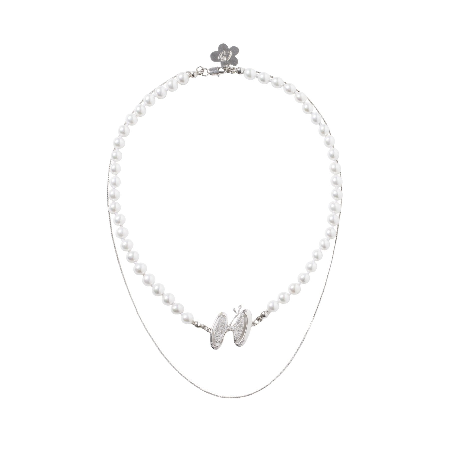 HERLIAN Pearl Logo Necklace | MADA IN CHINA
